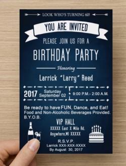 Birthday Invitation - Reed